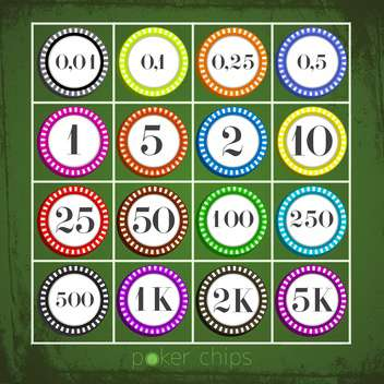 poker chips collection set - vector gratuit #133307