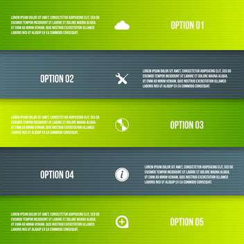 set of business process steps - vector gratuit #133357