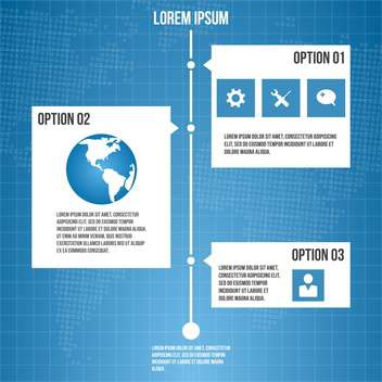 business process diagram steps - vector gratuit #133377