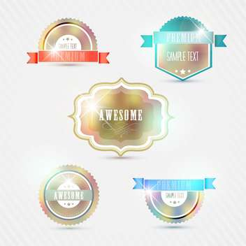 vintage styled premium quality icons - Free vector #133387