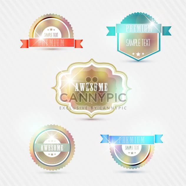 Vintage Stil Symbole für Premium-Qualität - Free vector #133387