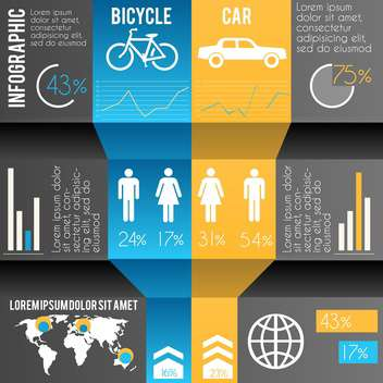 business infographics transportation illustration - Free vector #133407