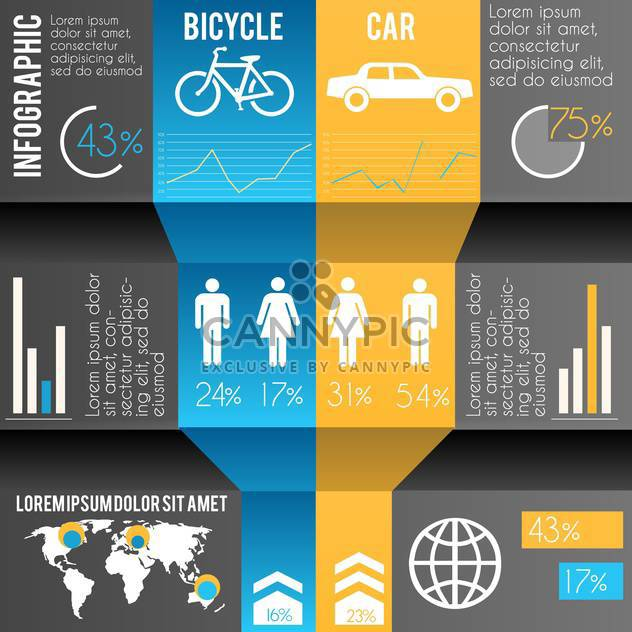 Abbildung Business Infografiken Transport - Free vector #133407