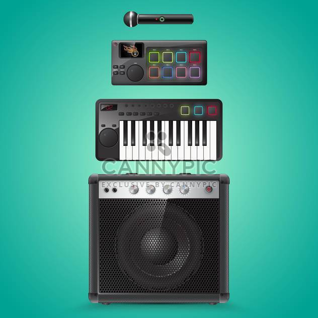 sound-Equipment-Vektor-icons - Free vector #133487