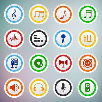 vector set of sound web icons - vector gratuit #133507