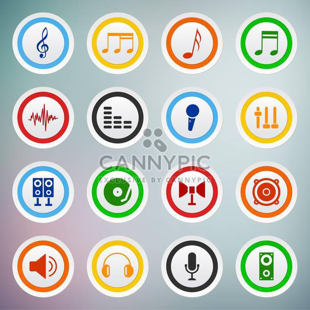 vector set of sound web icons - Free vector #133507