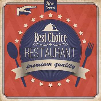 food and restaurant label for design - vector #133547 gratis