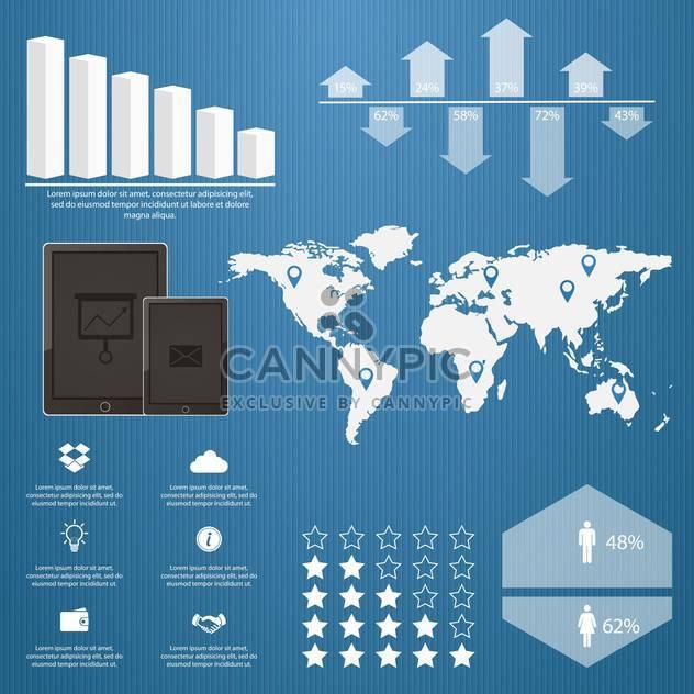 Elemente der Geschäft Infographik Menge - Kostenloses vector #133577