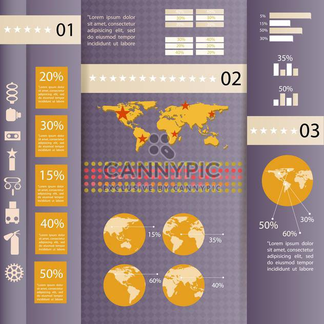 set elements of business infographics - Free vector #133617