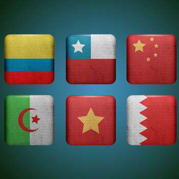 different countries flags set - vector gratuit #133647