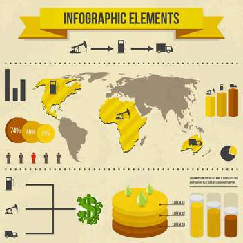 set elements of business infographics - vector gratuit #133677