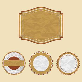 vintage labels set background - vector gratuit #133717