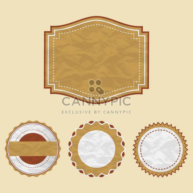 vintage labels set background - Free vector #133717