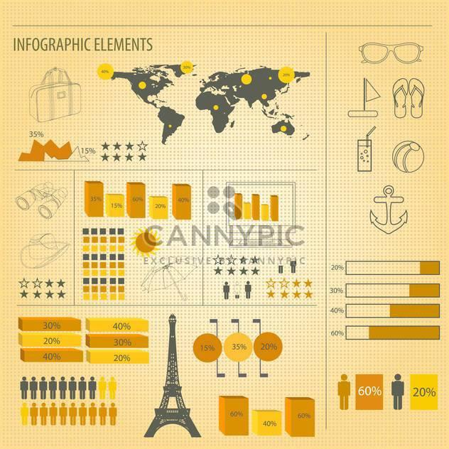 Retro-Infografiken festlegen Hintergrund - Kostenloses vector #133777