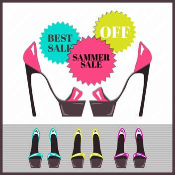 summer shopping sale background - vector gratuit #133877