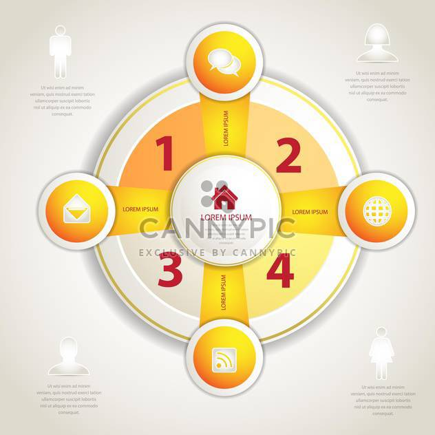 four business algorithm steps - Free vector #133917