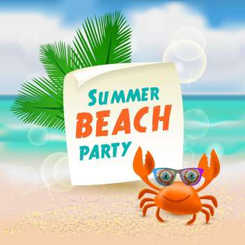 summer beach party illustration - Free vector #133987