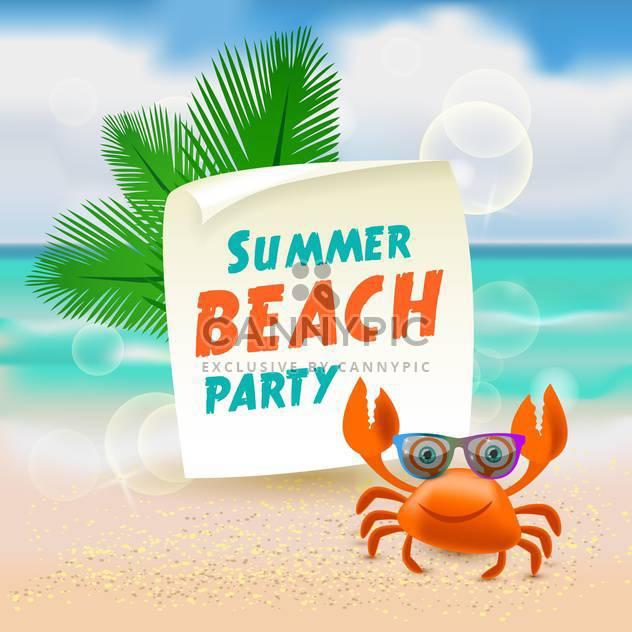 Sommer-Strand-Partei-Abbildung - Kostenloses vector #133987