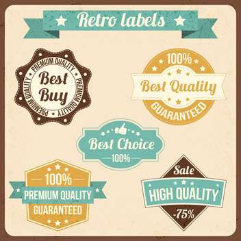 vector set of retro labels - vector gratuit(e) #134027