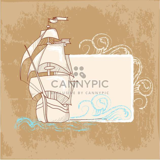 vintage marine postcards background - Free vector #134067