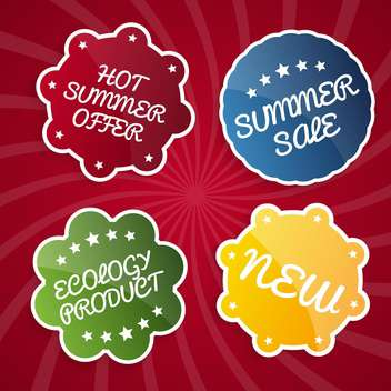 summer sale design emblems set - vector gratuit #134117