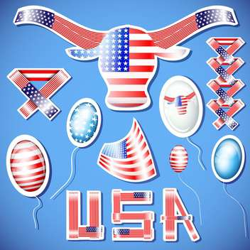 usa independence day illustration - Free vector #134157
