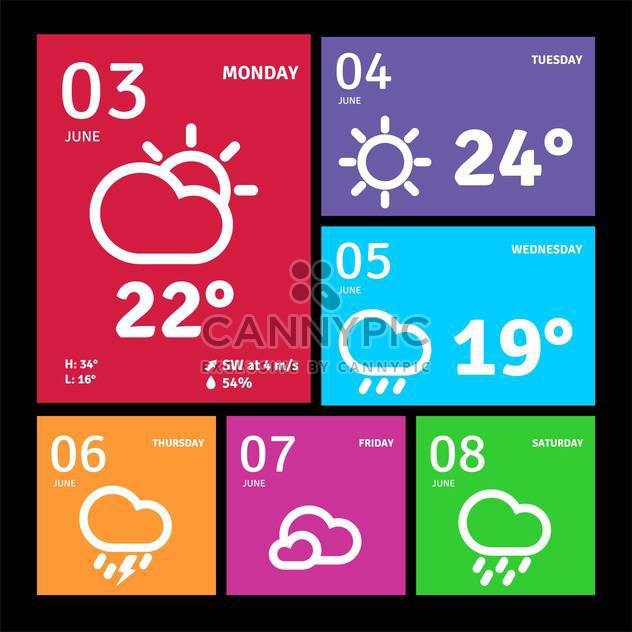 windows 8 style web icons - Free vector #134177