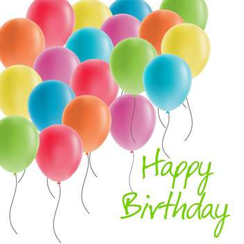 happy birthday greeting card - vector gratuit(e) #134277
