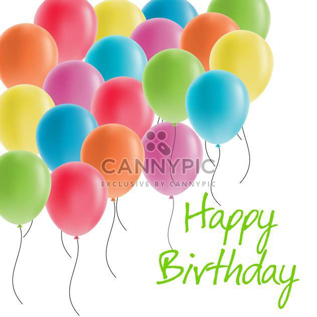 happy birthday greeting card - Free vector #134277