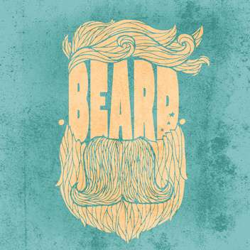 beard hipster icon illustration - vector gratuit #134307