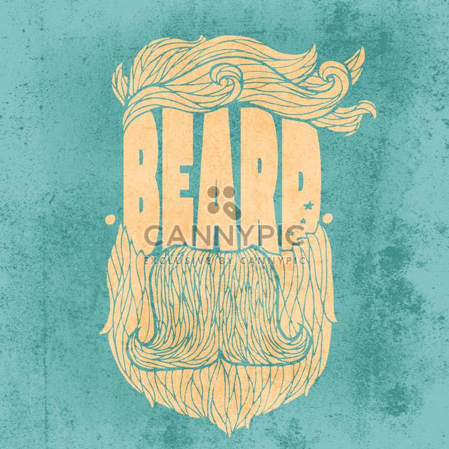 beard hipster icon illustration - Free vector #134307