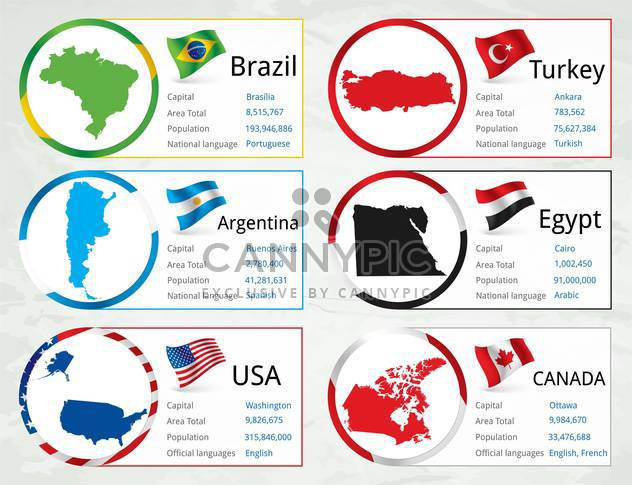 different countries flags set - Free vector #134327