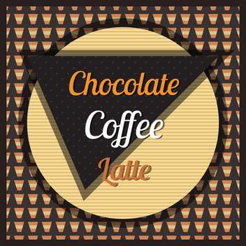 chocolate, coffee and latte background - vector gratuit #134427