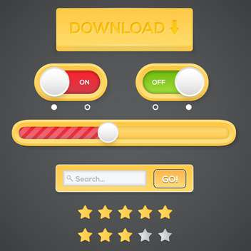 web buttons with search bar - Free vector #134437