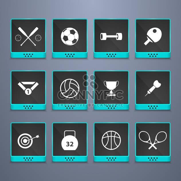 Sport Web-Buttons festlegen Hintergrund - Free vector #134447