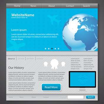 abstract website template background - vector #134457 gratis