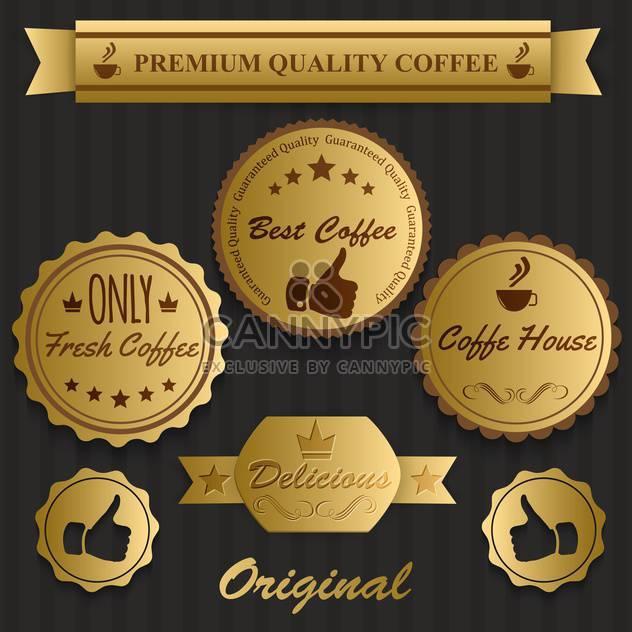 besten Kaffee Jahrgang Etiketten - Kostenloses vector #134467
