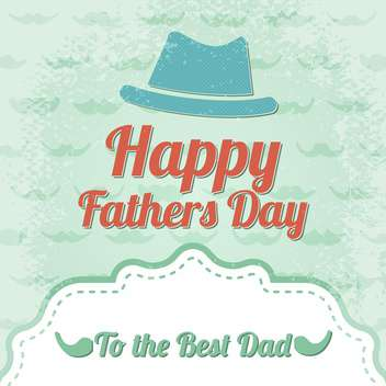 happy father's day label - vector gratuit #134497