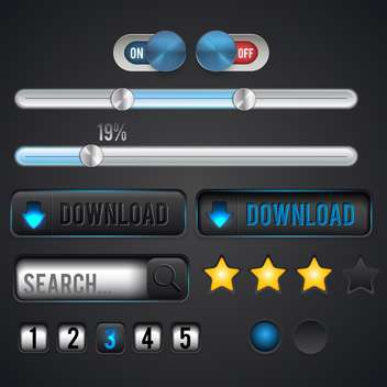 icons for web searching and downloading - Kostenloses vector #134567