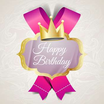 illustration for happy birthday card - vector gratuit #134587