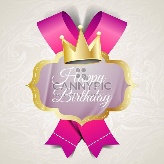illustration for happy birthday card - Free vector #134587