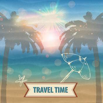 travel time vector background - vector gratuit #134607