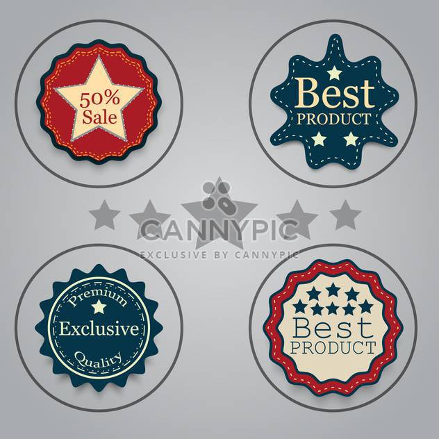 set of graphic vector labels - Free vector #134637