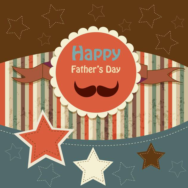 happy fathers day vintage card - Free vector #134647