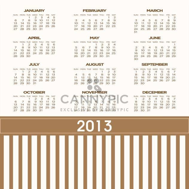 Jahr Kalender Vektor Hintergrund - Kostenloses vector #134697