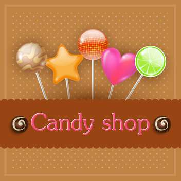 tasty candy shop illustration - бесплатный vector #134737