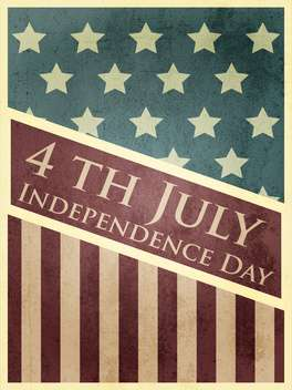 vintage vector independence day background - Kostenloses vector #134747
