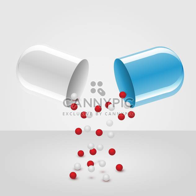 vector open medical capsule illustration - Free vector #134777