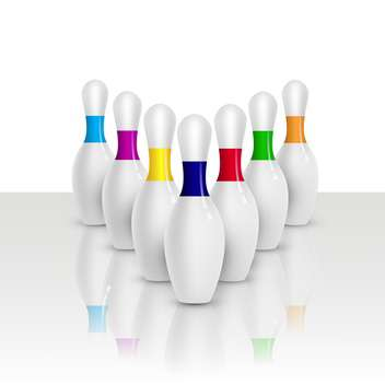 group of bowling game pins - vector gratuit #134787