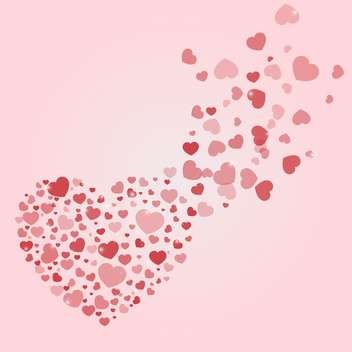 vector background with Valentine's day hearts - vector gratuit #134817